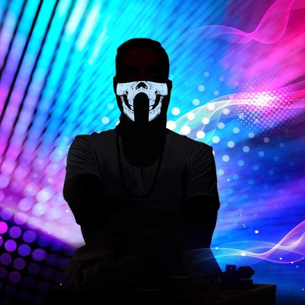 25 Styles EL Masque LED Flash Music Mask Avec son actif pour Dancing Riding Party contrôle vocal de patinage Masque Parti Masques CCA10520 10pcs