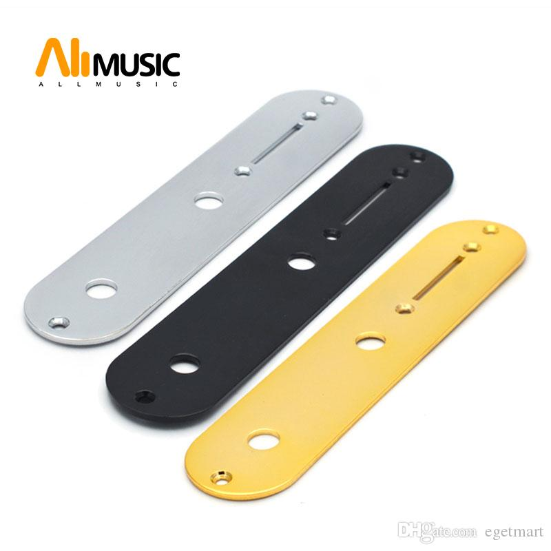 Metal Switch Control Plate for Electric Guitar Guitar Pot Wiring Cover Chrome Black & Gold for Choose