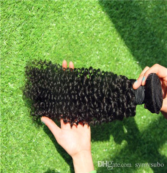 Черно-белый цвет монгольских девственных вьющихся волос пучки человеческих волос Remy 100% наращивание волос 10-30 дюймов