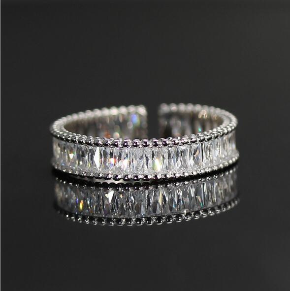 Moda zircone delle donne Anello europeo e retro monili regalo americano regalo di Natale S925 Sterling Silver Aprire Ring38