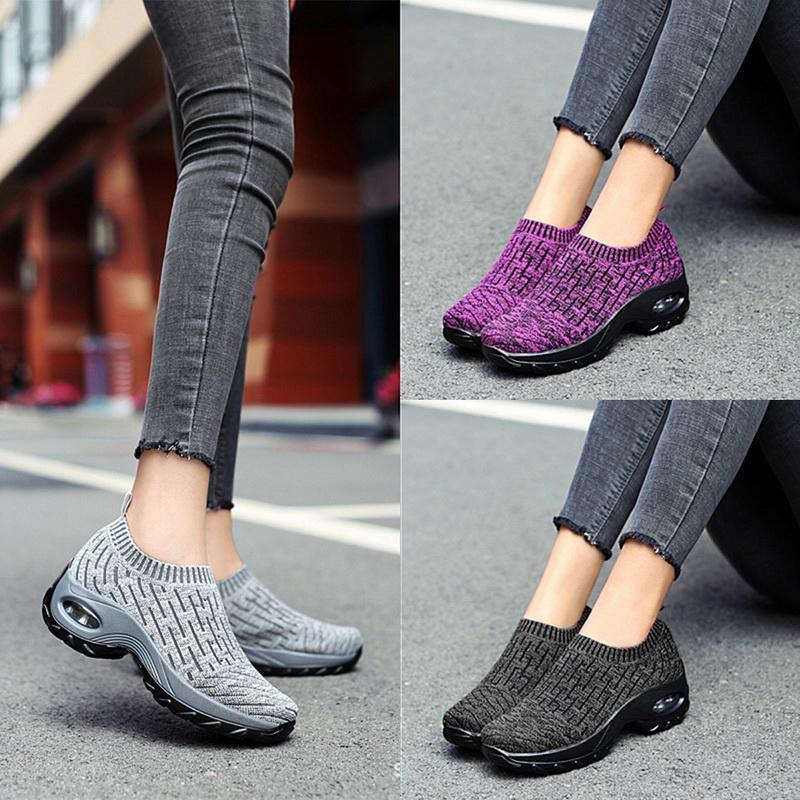 Mujer SFIT Resbalón-en el cojín de aire casual de las señoras mujer de los zapatos de malla transpirable zapatillas de deporte de Tenis Femenino jogging la zapatilla de deporte 2020