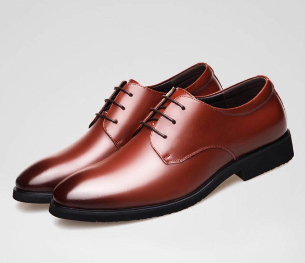 2018 Male Casual Flats Shoe Cowhide Leather Men\u0027S Suit Shoes Oxford Flat  Men\u0027S Shoes Outdoor Business Party Dress Slip On Loafers Men Sandals Best