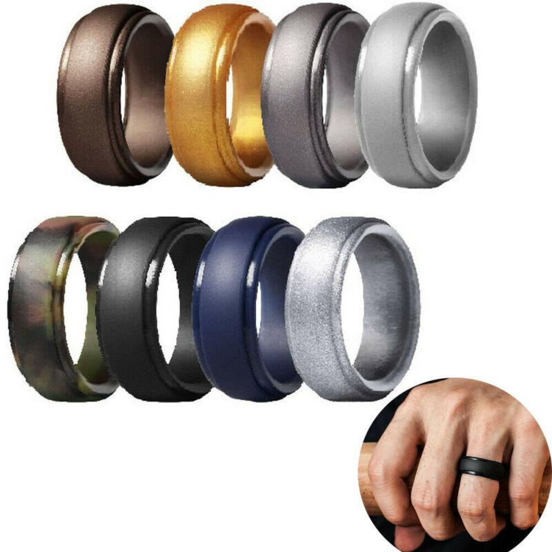 2020 горячие силиконовые кольца 5,7 мм гипоаллергенные антибактериальные движения мягкие спортивные кольца для пальцев резиновое обручальное кольцо для мужчин женщин