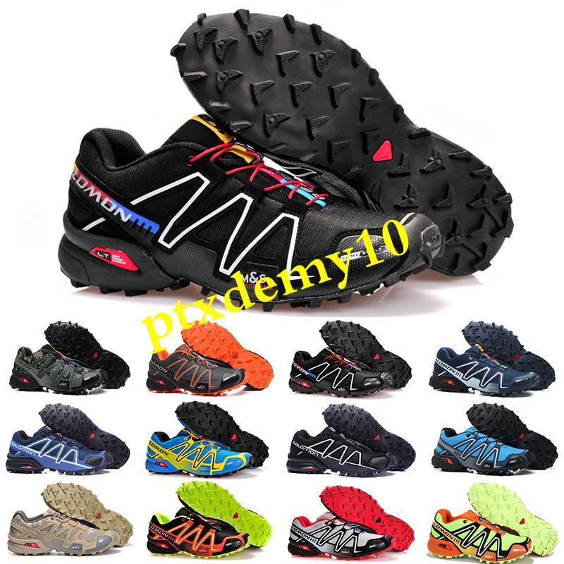 Salomon Speed Cross 3 2018 Zapatillas Speedcross de alta qualidade 3 4 Sapatos de corrida homens caminhando ao ar livre Velocidade cross 3 Ténis de corrida Tamanho 36-46 SK03