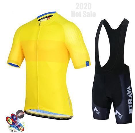 Strava Jersey della squadra Set Men Abbigliamento Ciclismo manica corta vestiti Biking Uniforme Road Bike Estate Northwave Ropa Ciclismo Maillot