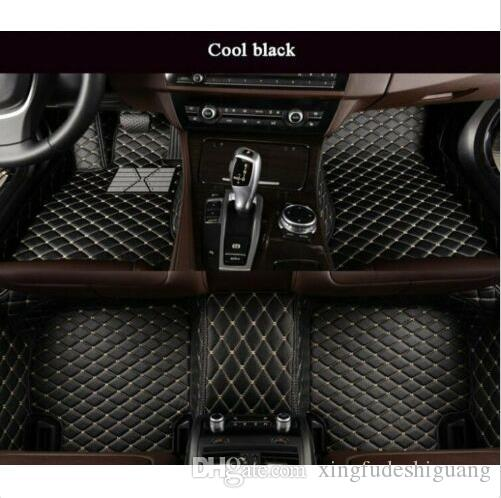 Car Floor Mats for Hyundai Tucson 2019 PU Leather mat Front+Rear Full Coverage Liner Waterpoof Non-Slip Left Drive Black