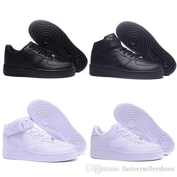 Air Force 1 Shadow Running shoes Clássico Das Mulheres Dos Homens Todos Branco Preto Low High 1 one tênis esportivos almofada de ar tênis de corrida EUR tamanho 36-45