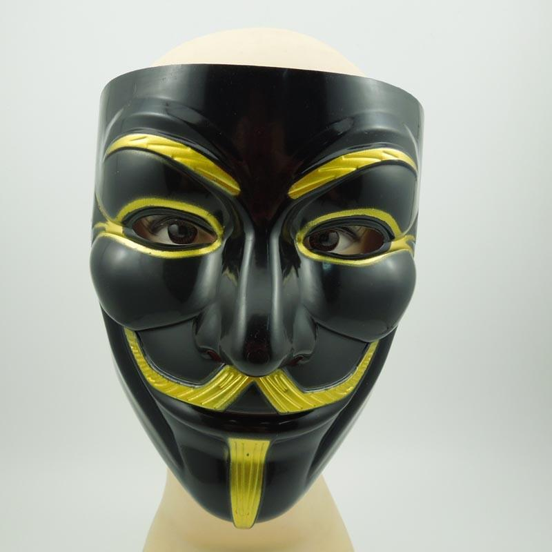 The Black V for Vendetta Party Cosplay masque Mask Anonymous Guy Fawke New Fancy Costume Accessory macka mascaras halloween 1064