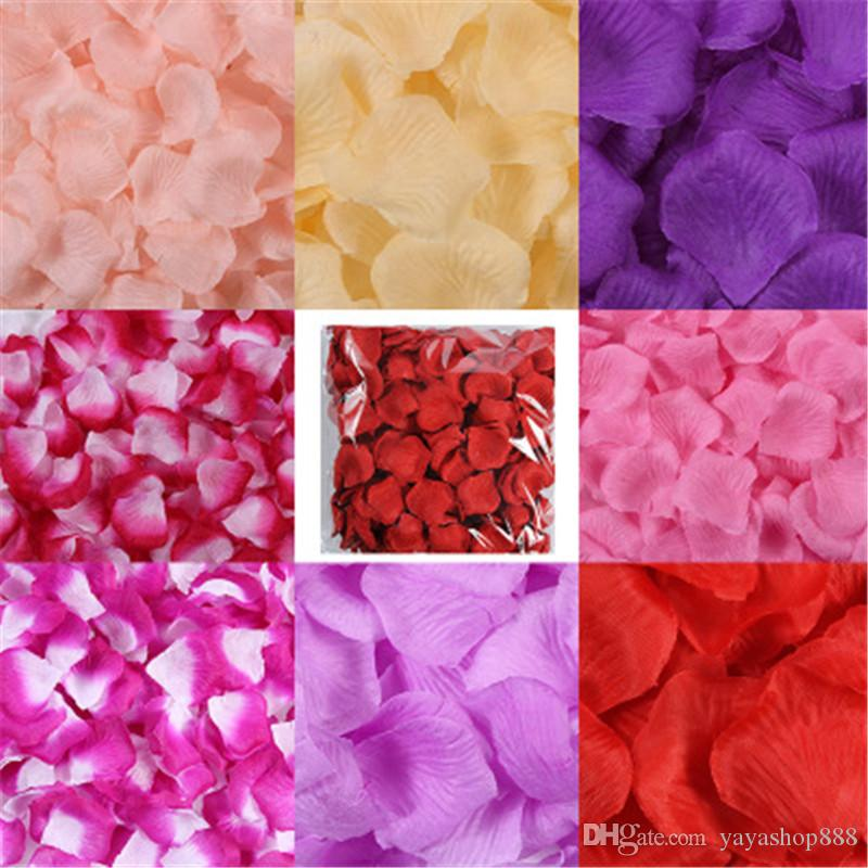 1KG Artificial Fabric Rose Petals Wedding Marriage Room Decorations Adornment Home Decor Wedding Party Simulation Silk Rose Flower Wholesale