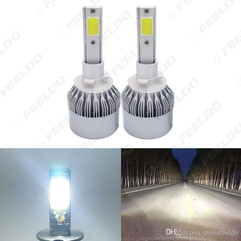 All In One-Auto-LED-Scheinwerfer 880/881 2-COB 6500K 72W 7600LM Auto LED-Lampe Foglight Scheinwerfer # 2885