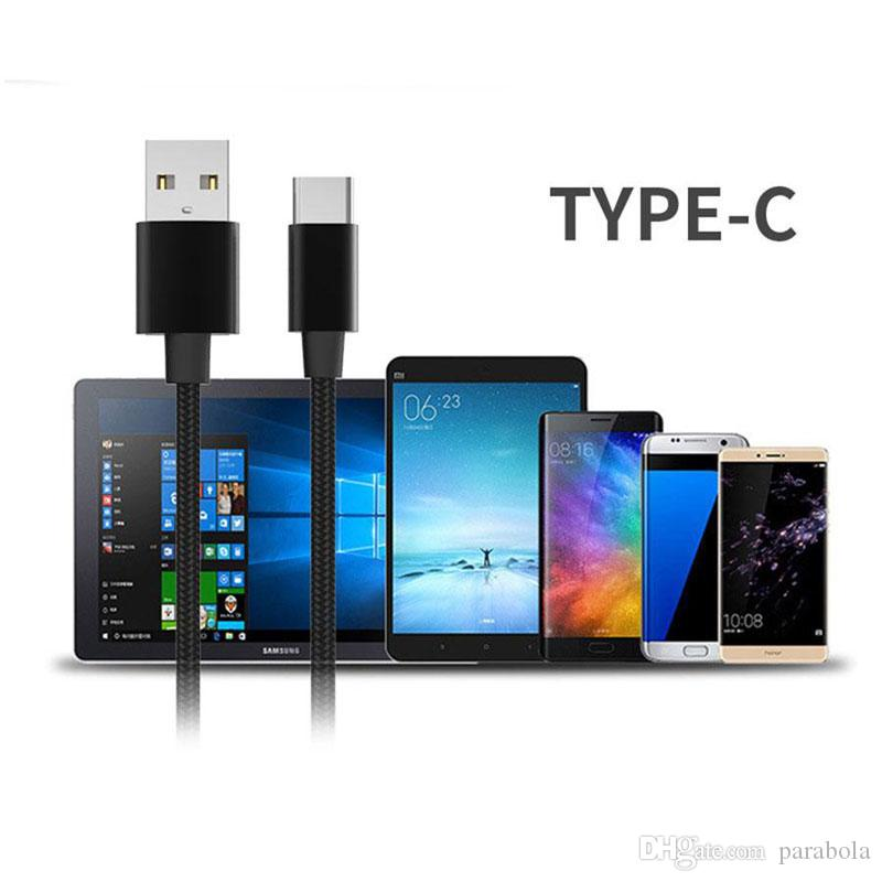 High Speed ​​USB Cable Tipo C para C Charging Adapter Data Sync metal Charging Adapter Espessura forte trançado USB C Charger