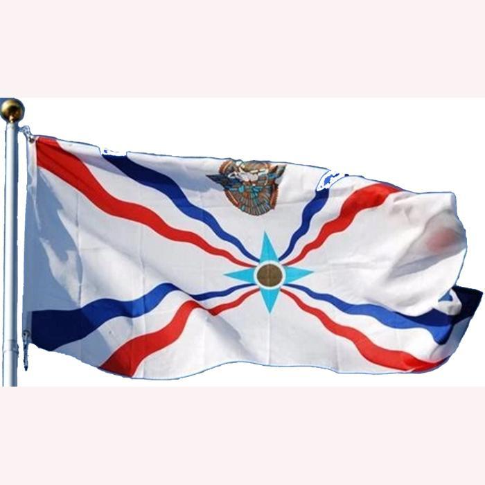 Assayrian Flagge 90x150cm gute Qualität Fliegen Beliebig Custom Style 3x5 ft Land Nationalflagge Banner Drop Shipping Hanging