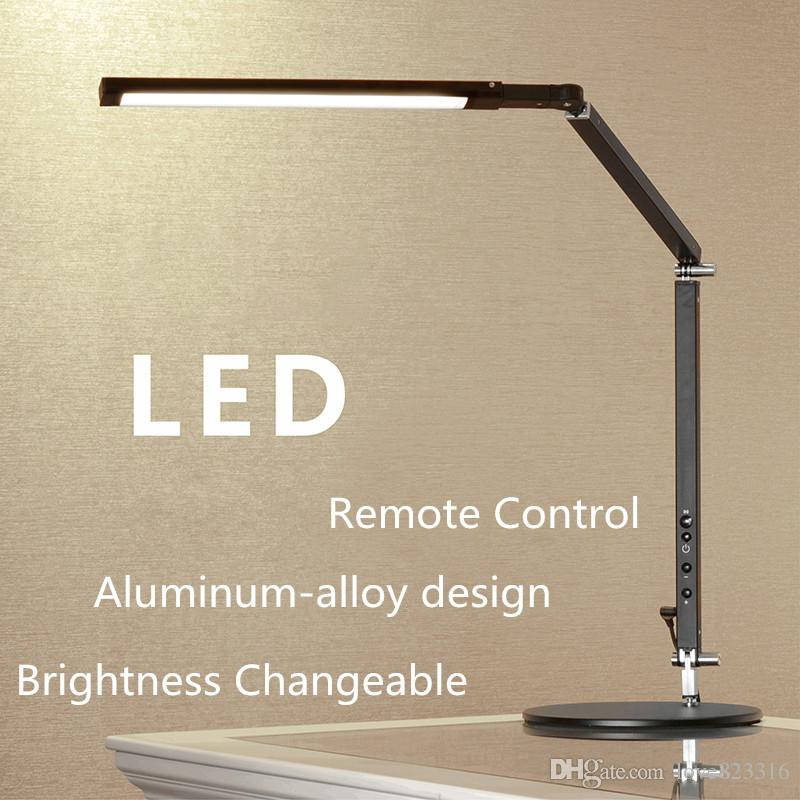 New Remote Control Energy Saving Led Desk Lamp,architect 8W Aluminum-alloy Metal Office Folding Table Lamps 3 Level Brightness