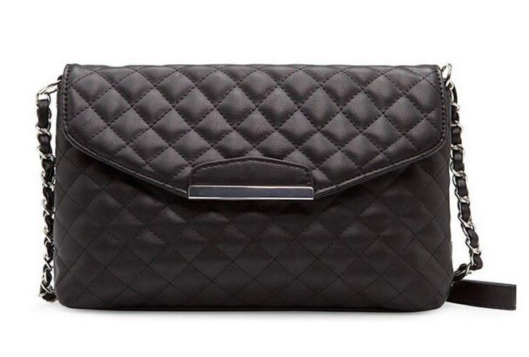 Hot style handbag Diamond Lattice lines chain bag Europe and the United States small sweet wind worn single shoulder bag