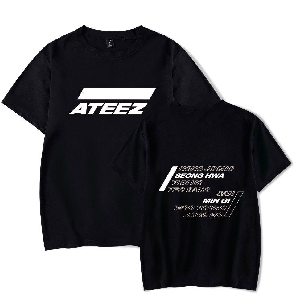 Ateez Summer T-shirt 2019 Nuova squadra coreana di moda O-Collo Casual New Fashion Plus Size manica corta colletto tondo Vestiti Y19051301