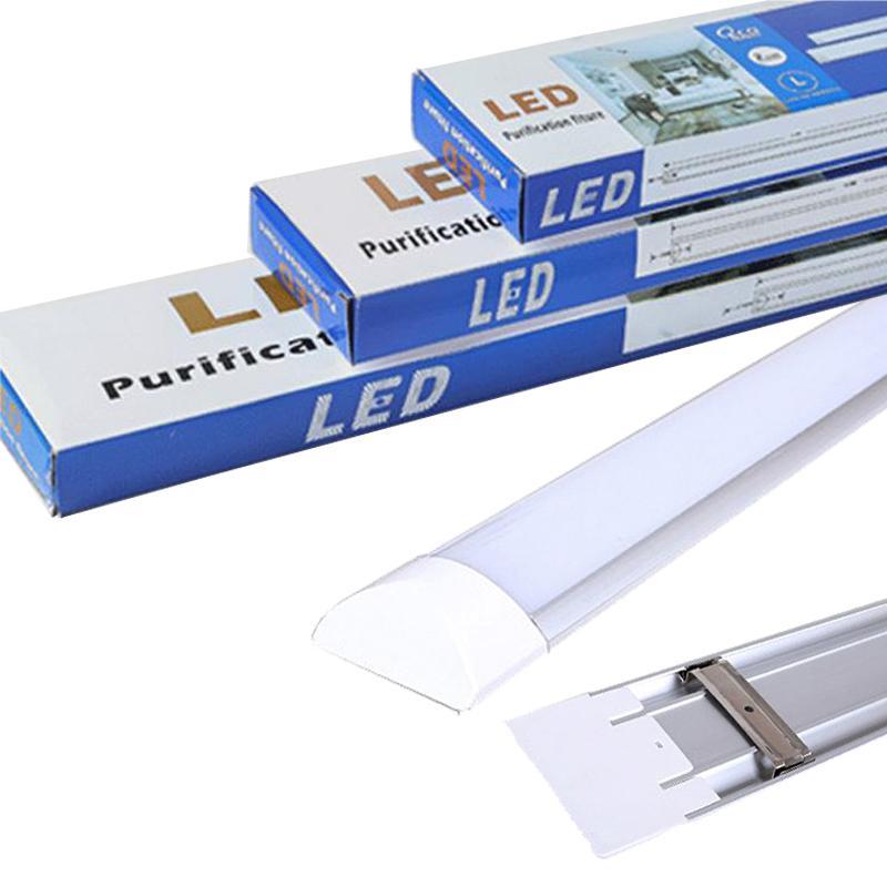 lámpara de tubo de purificación luz de techo del LED Tubo LED del listón de luz para Oficina Sala de estar Cuarto de baño Cocina Garaje warehous