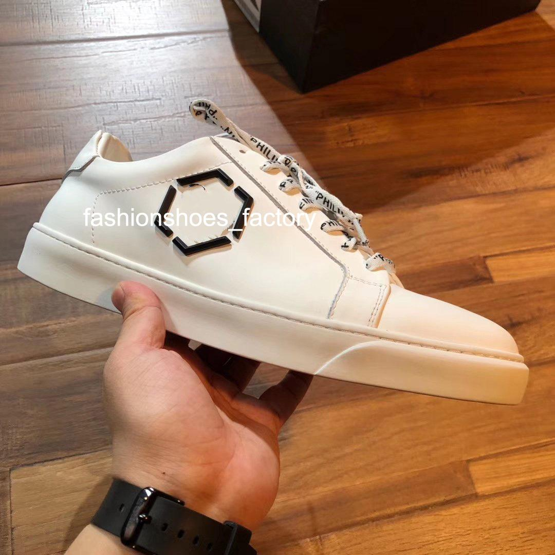 Luxury Mens Plate-forme Shoes Good quality sneakers High-end silk cowhide White Black Street Shoe
