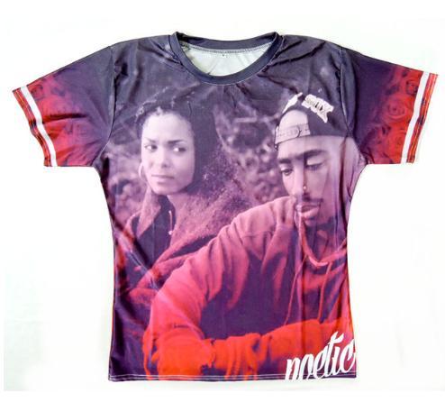 El más nuevo cantante popular rapero Tupac 2pac camiseta hombres mujeres unisex divertido 3d imprimir verano manga corta cuello redondo cuello redondo Casual Tops A151