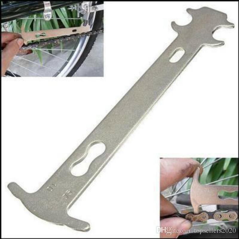 Desgaste de la cadena de la bicicleta 1pcs inspector del indicador del camino de la montaña MTB Cadenas Indicador de medida de la regla de ciclo de reemplazo de reparación de herramientas