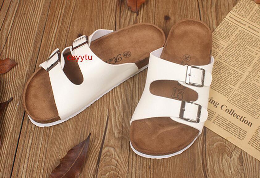 Boken Estate New Cork Pantofole Scarpe Uomo casuale delle donne colore misto Pu Infradito sandali della spiaggia diapositive piatto Plus Size 35-44 Sandali