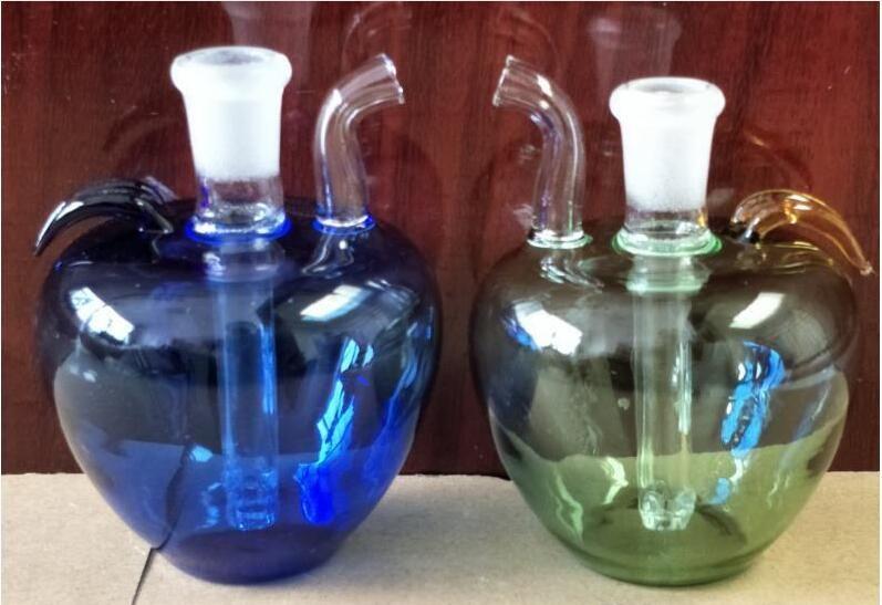 Mini Huka Glasmalerei kleiner Apfel, Pfeife der Gong-Wasserpfeife, Pfeife der Ölbohrplattform-Tonglaspfeife freies Verschiffen