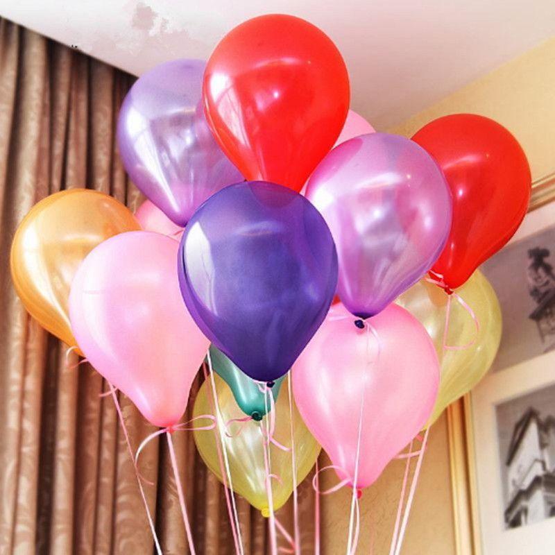 100pcs / Lot Düğün Balonlar Doğum Katı Renk Noel Süsleme Dekorasyon Toplar Parti Favor Balon Dekoratif Dekor Hediye Bahçe