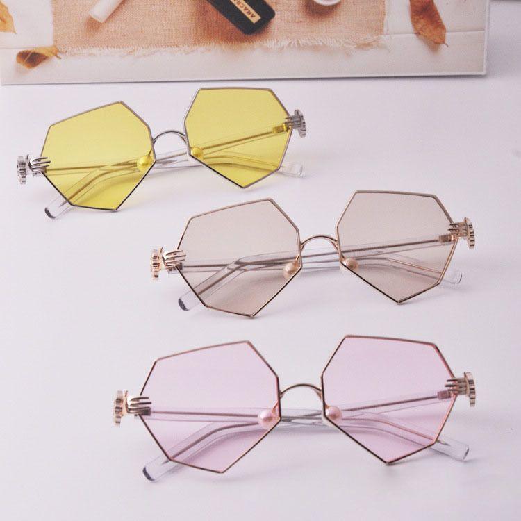 6 Cores Crianças Moldura Quadrada Óculos De Sol Uv400 Lente De Revestimento De Pérola Nariz Moda Meninas Óculos de Verão Bebê Criança Oculos N157
