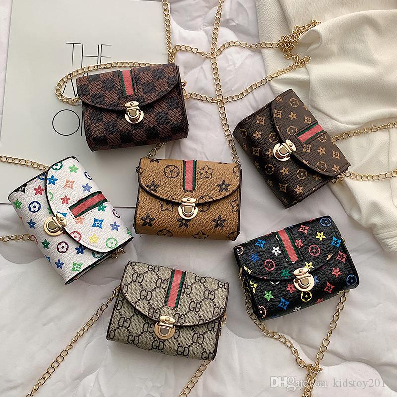 아이 어깨 가방 패션 소녀 인쇄 크로스 바디 가방 체인 패니 팩 캐주얼 야외 공주 파우치 파티