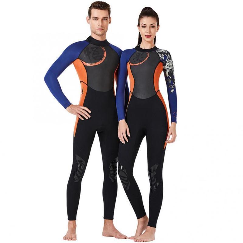 Dalış Suit 1.5mm Nefes Dalış Dalgıç Tek Parça Uzun Kollu Unisex Sörf Yüzme Yelken Giyim Ekipmanları