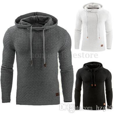 Automne et Hiver 2019 Nouveau européens et américains de la Garde Jacquard hommes, Sweatshirt à capuche, à capuchon chaud de couleur Sportsweater Manteau # 8008