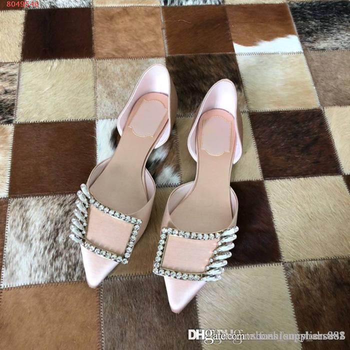 As novas senhoras 2020 sandálias plataforma com fivelas de diamante, dedo do pé pontas com tampa de calcanhar e seda decotado sandálias, com caixa original