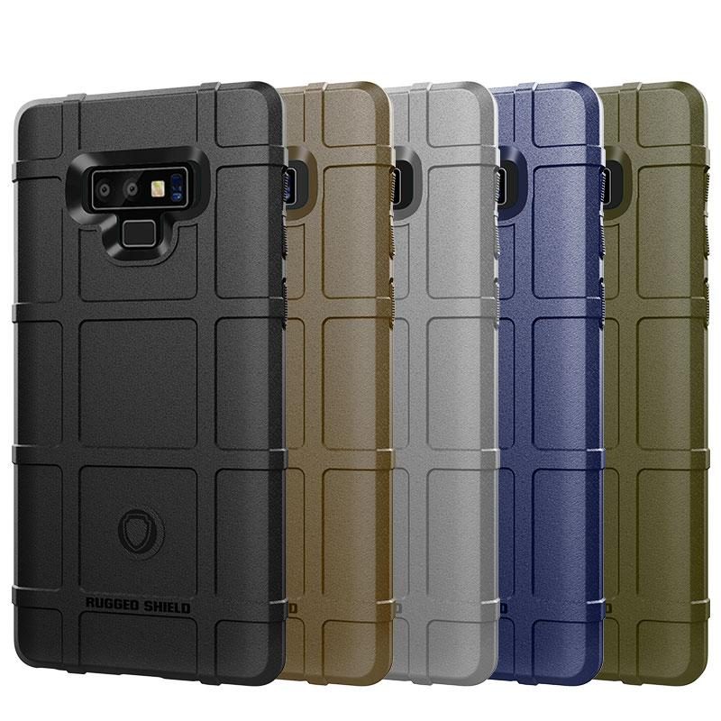 360 Degree Shockproof Full Body Protection Case for Samsung Note 9 Soft TPU Thick Solid Armor Tactical Protective Cover Case