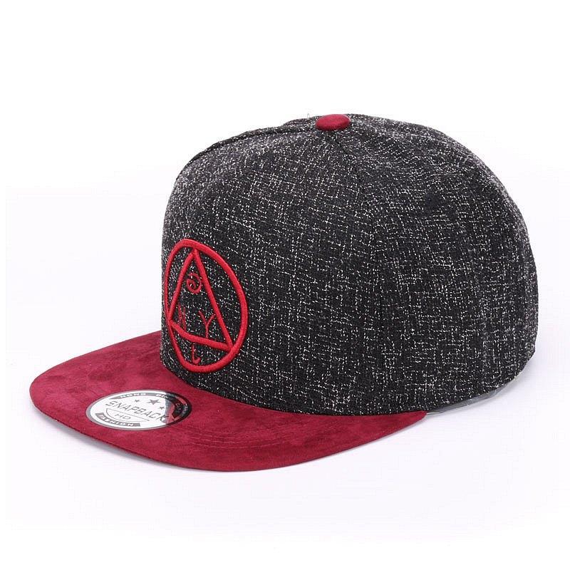 Calidad Snapback Cap NY Round Triangle Bordado Marca Flat Brim Gorra de béisbol Joven Hip Hop Gorra y sombrero para niños y niñas
