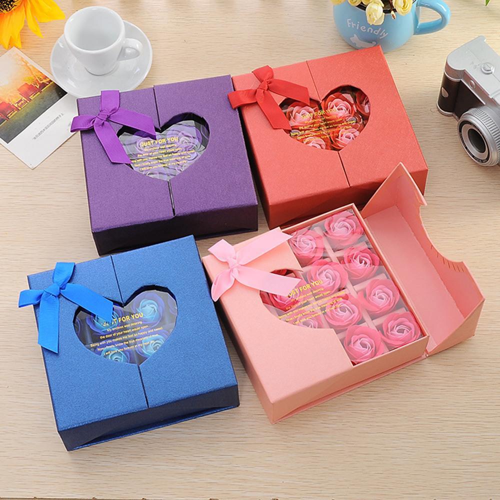 16Pcs Soap Rose Head Beautiful Wedding Valentine's Day Gift Wedding Bouquet Home Decoration Hand Flower Art