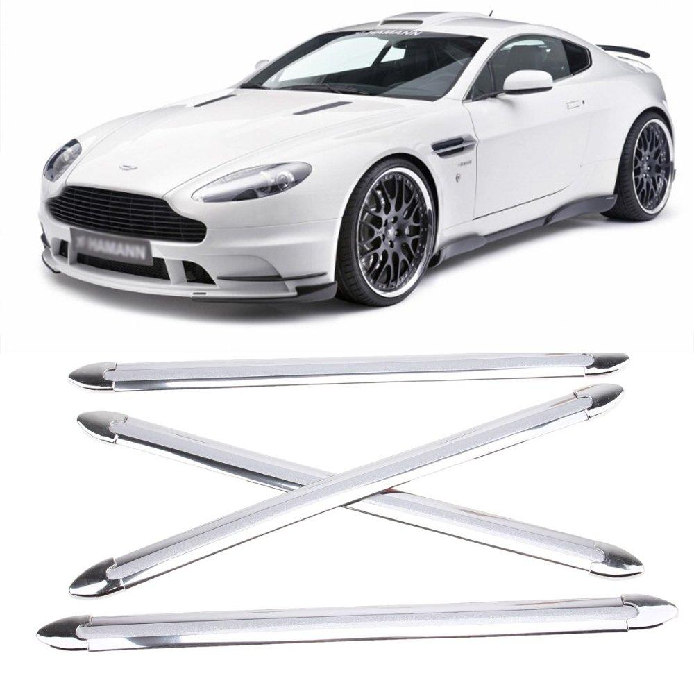 4Pcs Car Anti-collision Strip Automobiles Front Rear Bumper Protector Corner Guard Stickers Car Decor Styling Mouldings