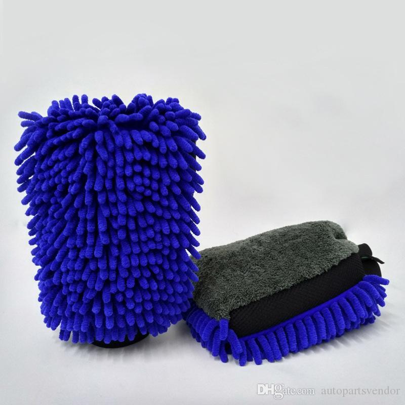 1pcs impermeable Car Wash microfibra de chenilla Guante 4 En 1 de limpieza de múltiples funciones grueso de coches Mitt cera Car Detailing Brush
