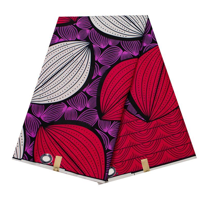 Анкара Африканский полиэстер восковые принты ткань красочный круговой узор высокое качество 6 ярдов Африканская ткань для вечернего платья FP6269