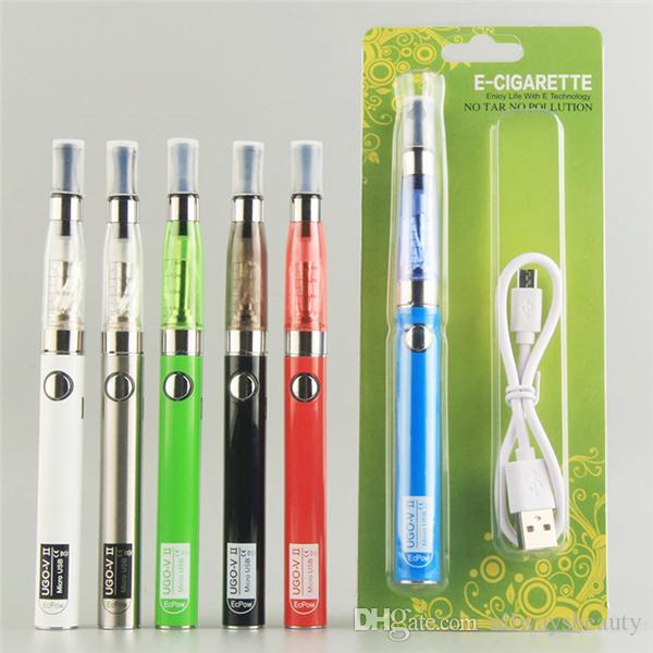 UGO CE4 Starter Kits E Cigarros UGO-V II USB Evod Passthrough 650 900mAh Evod Vape Pen E Cig Kits Vape Pen 510 Carregador de Bateria E Cigs