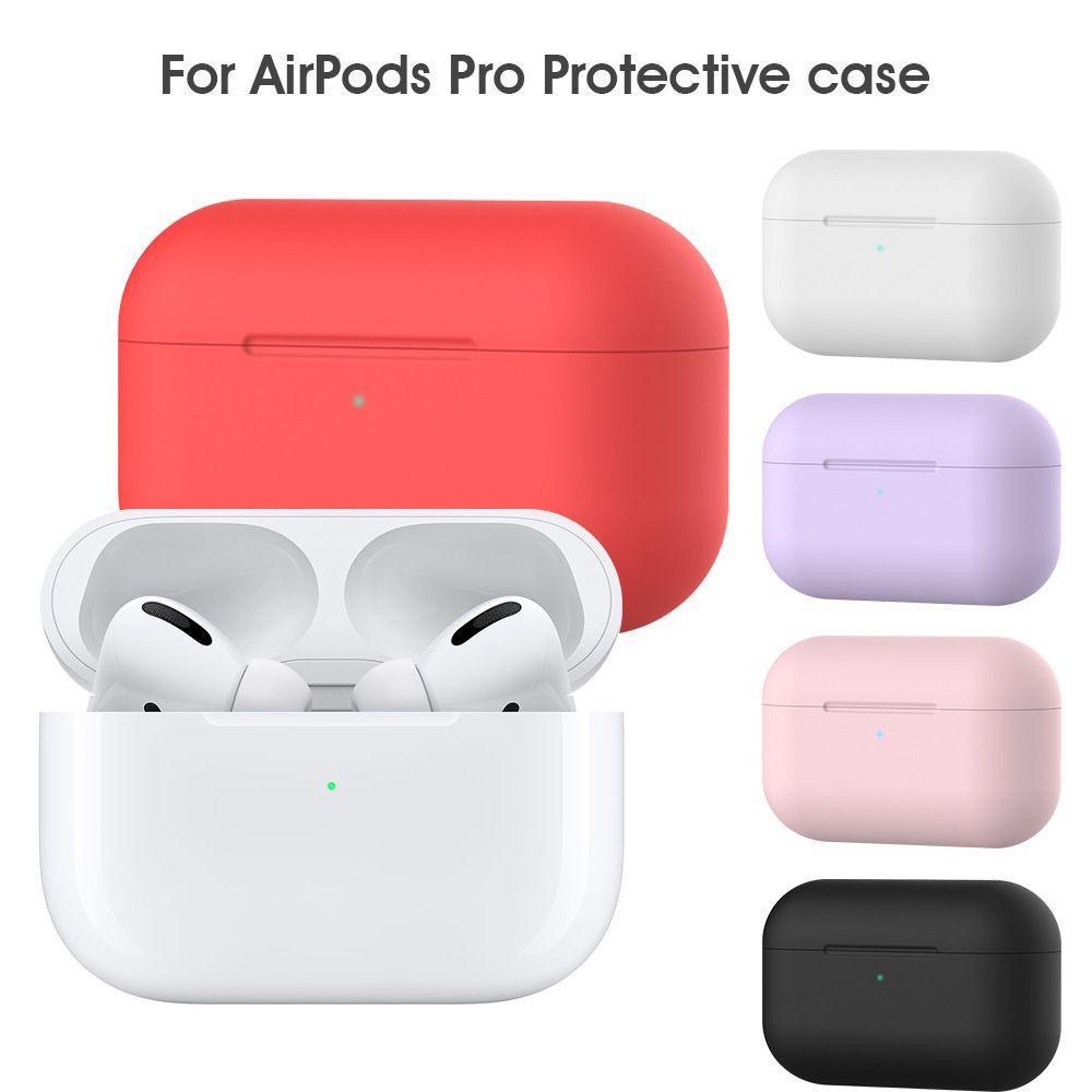 Airpods Koruyucu Vakaları için Apple Airpods yanlısı Bluetooth Kulaklık yumuşak Kapak Koruyucu Silikon Kapak