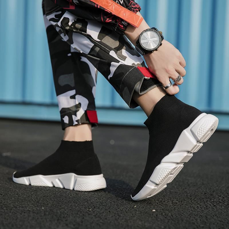 Men Sock Boots Shoes Slip on Casual Shoes for Men Sneakers Man Footwear Male Youth Adult Krasovki Tenis Masculino Plus Size 12