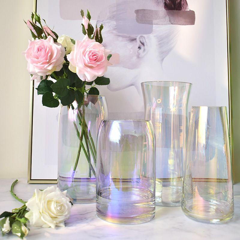 Coloré Arc-En-Vase décoratif en verre de terrarium décoratif vase à fleurs transparent nordique décoration maison hydroponique pour mariage