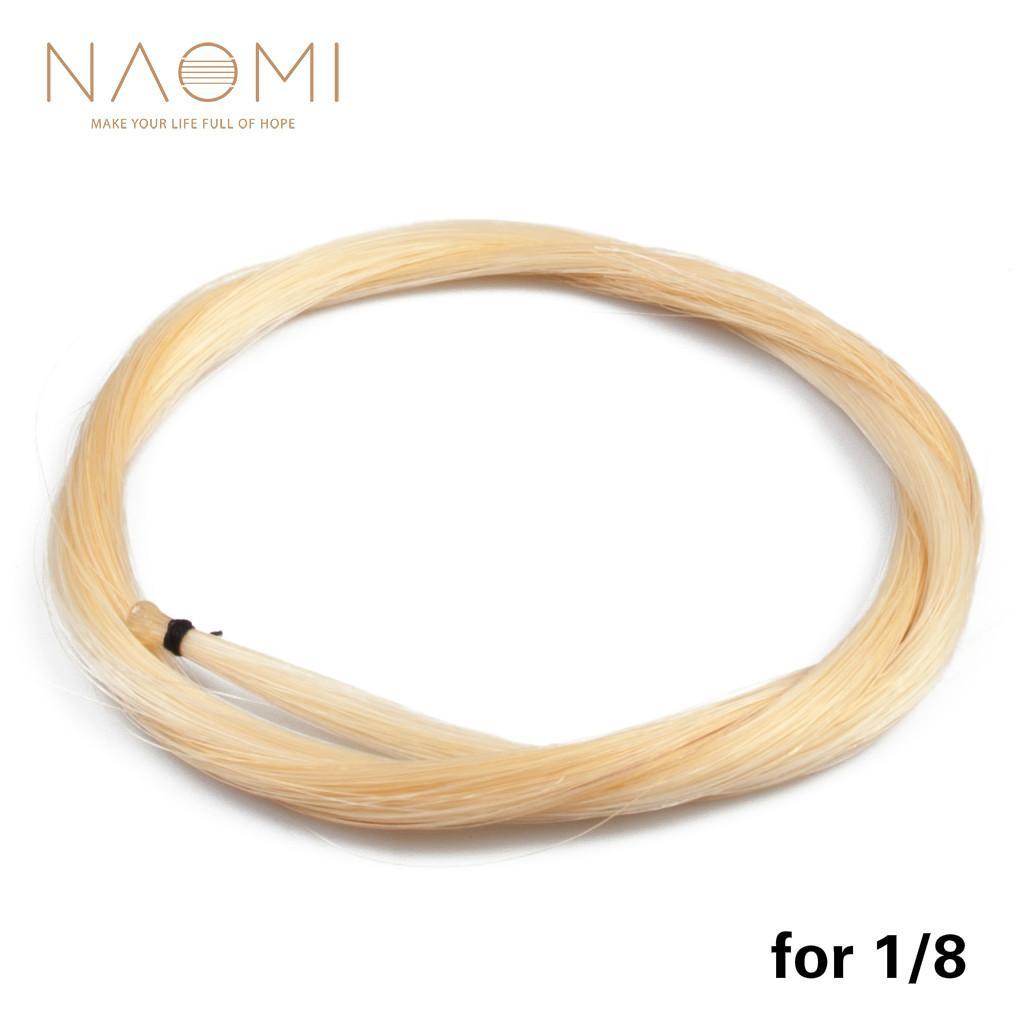 NAOMI 1/8 Violin Bow Horse Capelli Fiocco di capelli bianchi Per1 / 8 Violin Bow Mongolia Crine di alta qualità Violino Accessori