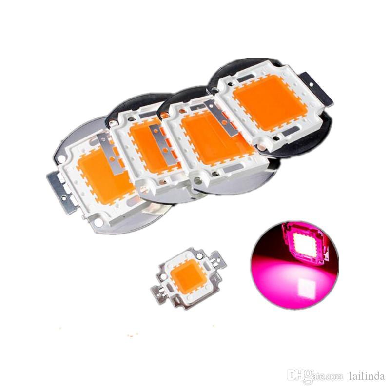 10W / 20W / 30W / 50W / 100W inondation LED COB 380-840nm allume haute puissance lampe LED usine Perle lumière croître le spectre Epileds Chip Livraison gratuite