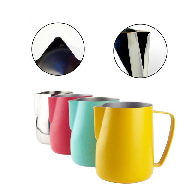 SEAAN Milk Jug 0.3-0.6L en acier inoxydable Frothing Pitcher Pull fleur tasse de café Fouets à lait Latte Art lait en mousse Outil Coffeware