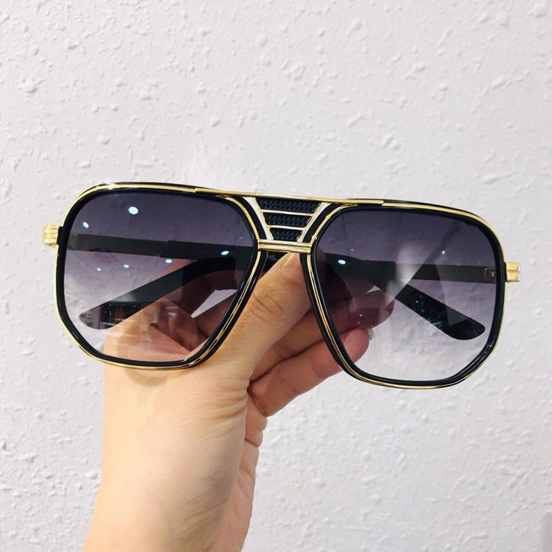2020 Men New Sunglass Square Shape High Quality Model Number 666 Mens Fashion Original Design High Sun Glass Wind Lens Top Quality Best Sunglasses For