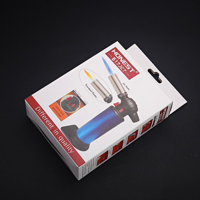 Honest Table Blow Torch Lighter Refillable Windproof Straight Flame Jet Gun Lighters Adjustable 2 kinds Flame for Outdoor Cooking Kitchen
