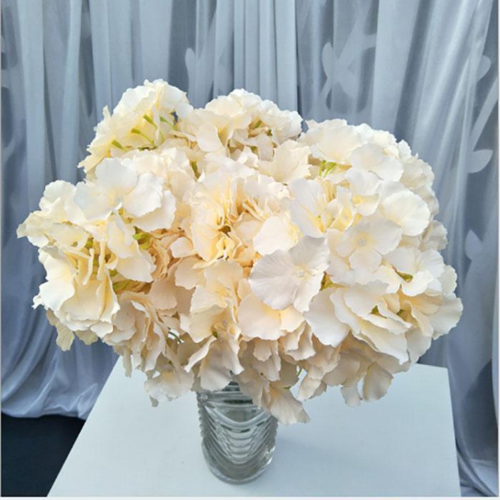 Yeni 46cm 5heads yapay çiçekler Ortanca buket ipek çiçek oturma odası ev dekorasyon yatak odasında ev düğün süslemeleri çiçek duvar