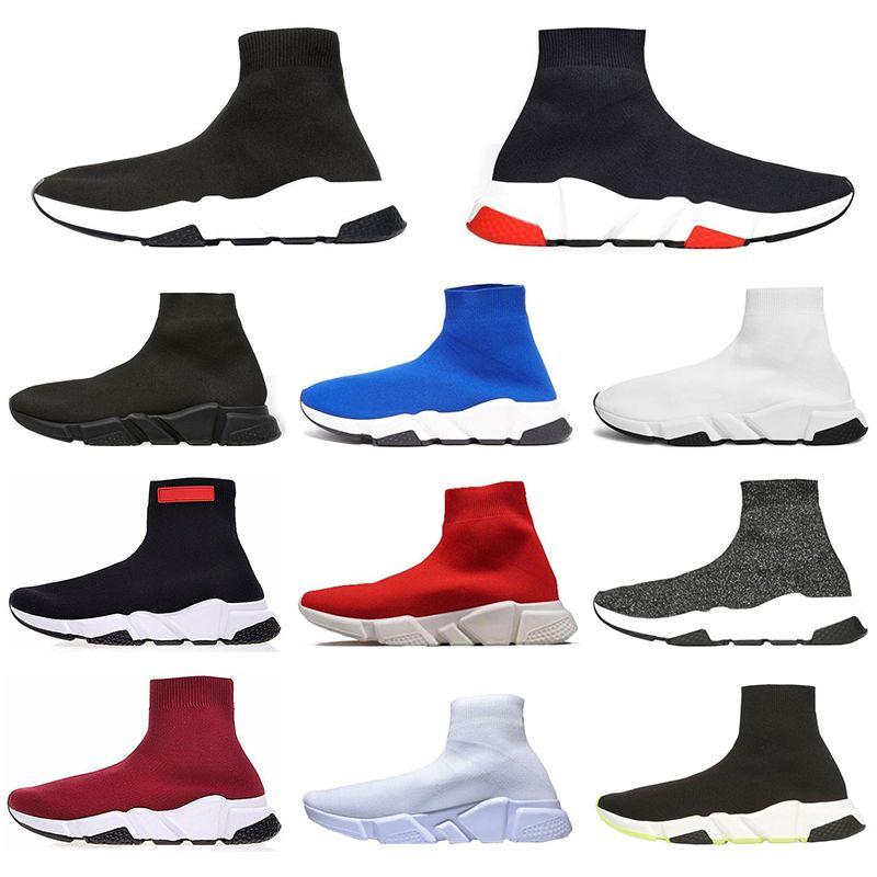 Balenciaga ACE Designer Speed Trainer di alta qualità degli uomini delle donne di sport Sneakers tripla nero piattaforma stivali piatti di colore Rosso Calze Scarpe casual Runner