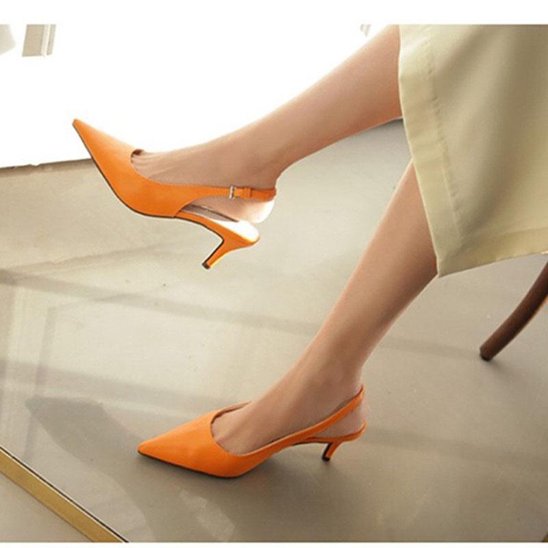 ZHENZHOU Büyüleyici Zarif Renkli Süet Women'sShoes Seksi Yüksek Topuklu Sandalet Elbise Parti OL Pompa Sevgiliye Ayakkabı Pompalar