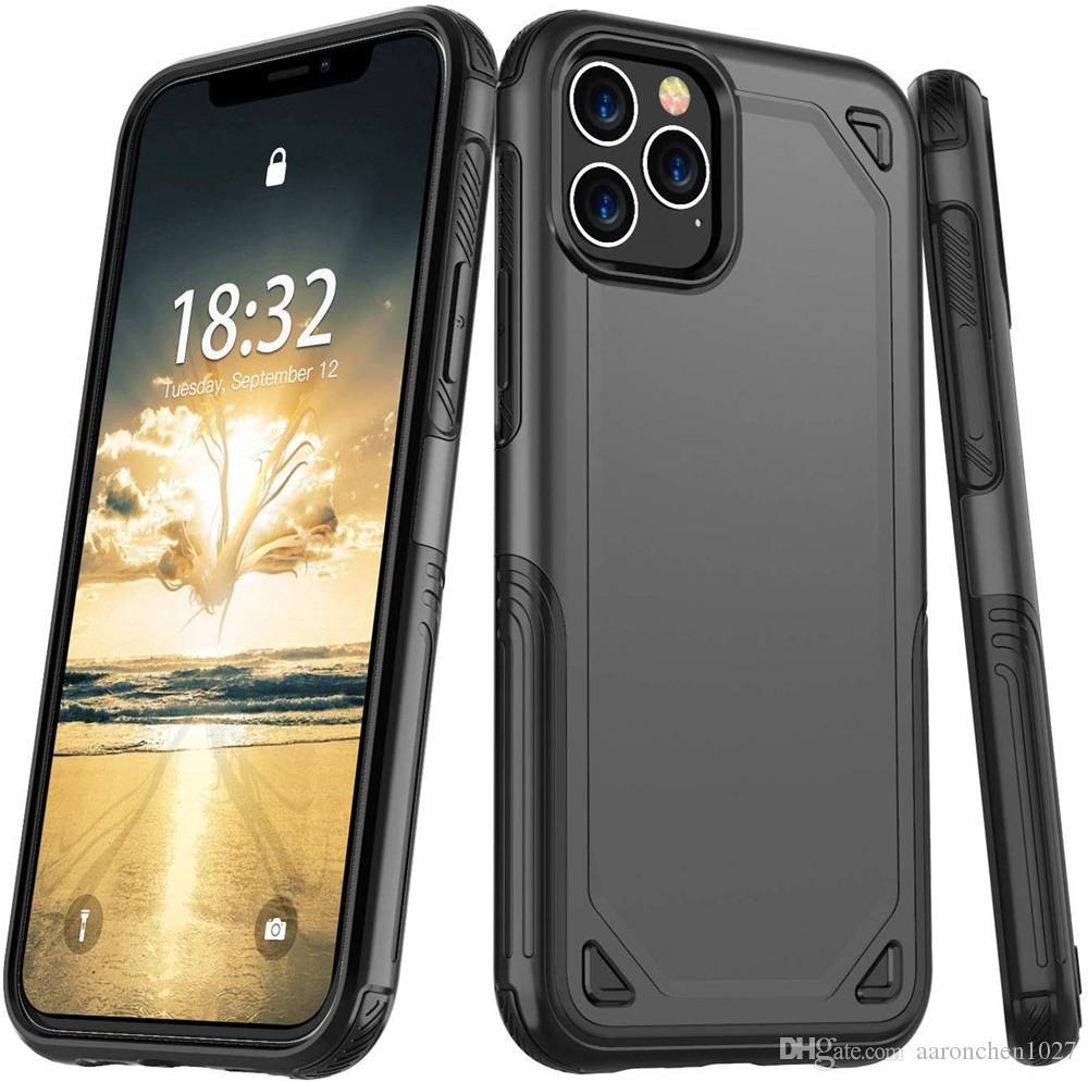 A prueba de golpes de lujo delgado armadura caja del teléfono iPhone durante 11 Pro 12 Mini Max XS X XR 6 7 8 S híbrido cubierta protectora dura de la PC de doble capa 6S Plus